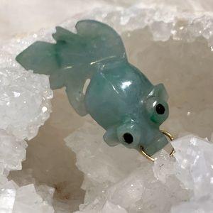 Jewelry - HAND CARVED JADE KOI FISH PENDANT CHARM